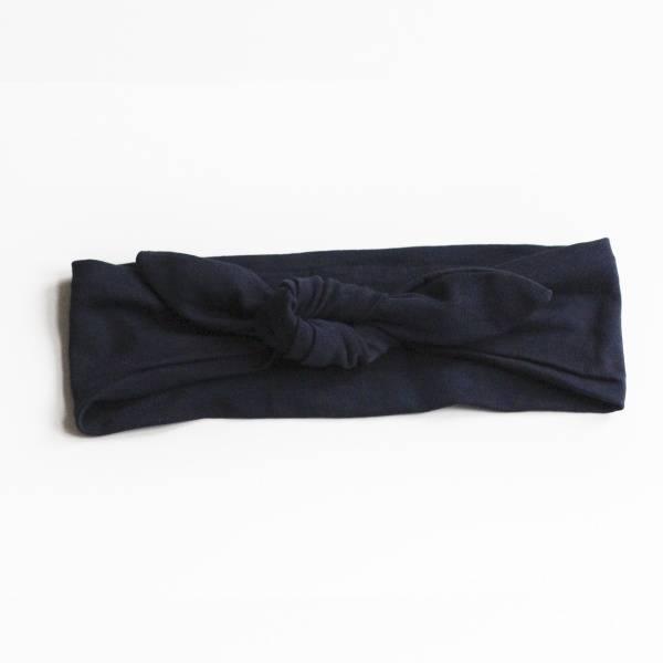 Hårbånd med knute Mørk Blå